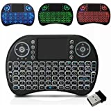 Backlit Mini Keyboard Touchpad Mouse AMGUR Mini Wireless Keyboard with Touchpad and Multimedia Keys for Android TV Box HTPC PS3 XBOX360 Smart Phone Tablet Mac Linux Windows OS