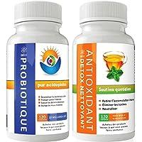 GBSci probiotiques et antioxydants Detox Combo   Combinaison unique de pure Lactobacillus acidophilus et antioxydants Detox   Garantie de remboursement si pas satisfait. 100% approprie pour végétarien / végétalien et sans gluten