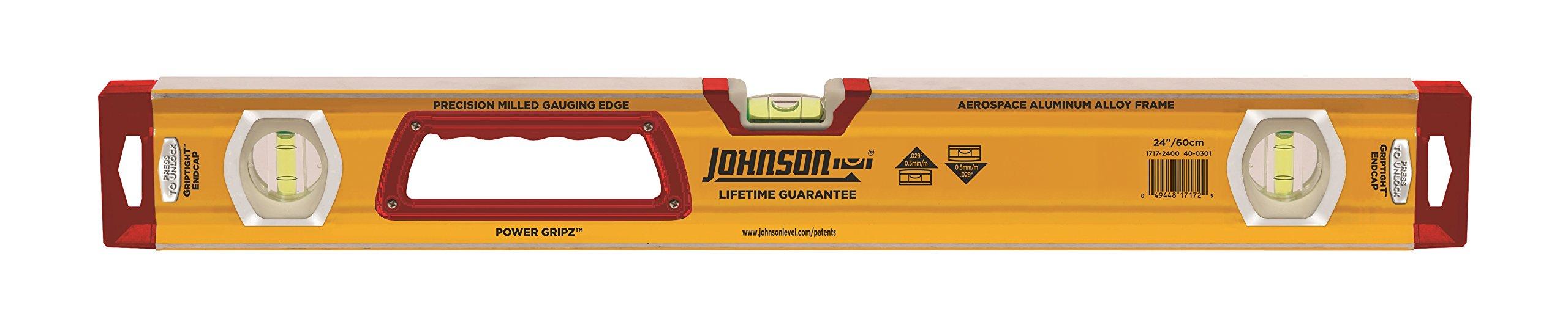 Johnson Level & Tool 1717-2400 Heavy Duty Aluminum Box Level, 24''