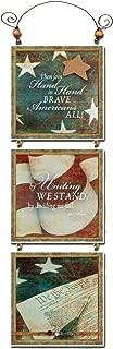 """product image for Imagine Design 13""""x4.5"""" Patriotic Tri Star Brave Hanging Plaque, 13"""" x 4.5"""""""
