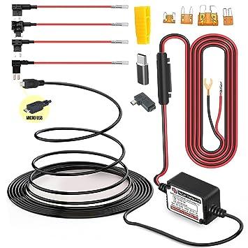 amazon com 15ft microusb miniusb dash cam hardwire kit with mini rh amazon com