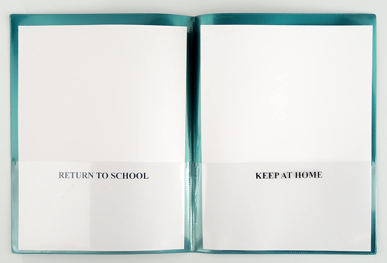 10-Pack SH900SV-MP10 StoreSMART School//Home Folders Metallic Purple Archival Durable Plastic Homework and Information