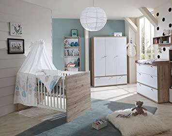 Babyzimmer, Kinderzimmer, Babymöbel, Komplett Set, Babyausstattung,  Babybett, Wickelkommode,