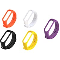 Rapidotzz Pack of 5 Straps/Belts/Bands Compatible for Xiaomi MI3 and MI4 MI Band 3 and MI Band 4 (Set 2)