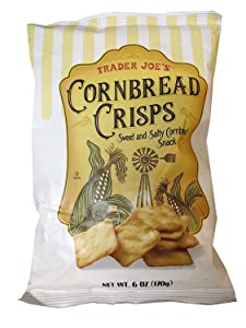 Trader Joe's Cornbread Crisps Sweet and Salty Cornbread Snack 6oz