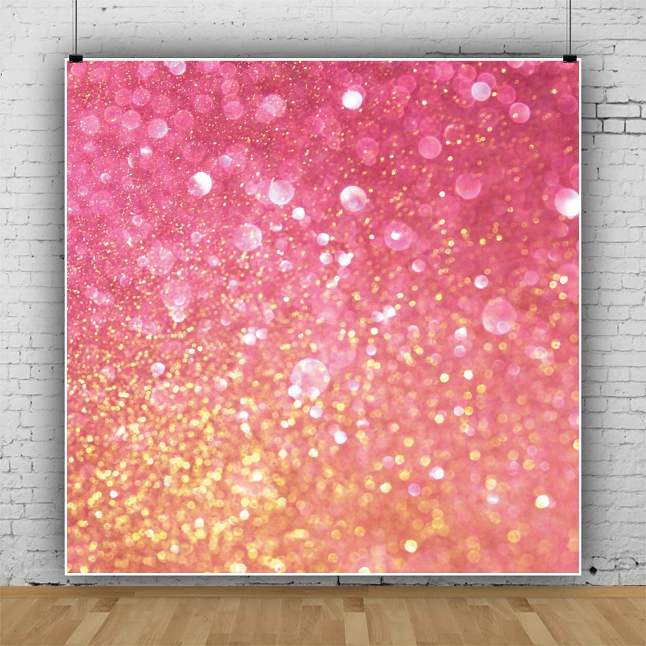 Yeele 6x6ft Glitter Sequins Backdrop Colorful Blink Glittering Gleaming Bokeh Photography Background Birthday Wedding Decoration Kids Adults Artistic Portrait Cake Smash Photo Shoot Props
