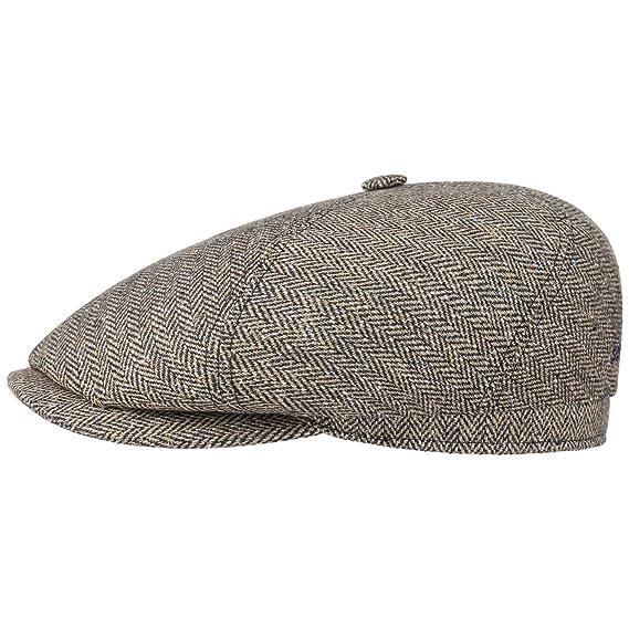 40bf06752bc Stetson Milner Silk Flat Cap Ivy hat  Amazon.co.uk  Clothing