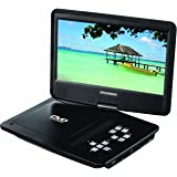 Sylvania SDVD1048 10-Inch Portable DVD Player, 5 Hour Rechargeable Battery, Swivel Screen, with USB/SD Card Reader and Car Bag/Mounting Kit
