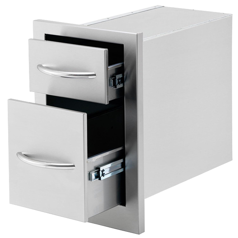 cal flame bbq p 2 drawer storage deep drawer