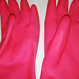 Amazon Co Jp Casabella ゴム手袋 ピンク M ウォーターブロックグローブ ホーム キッチン