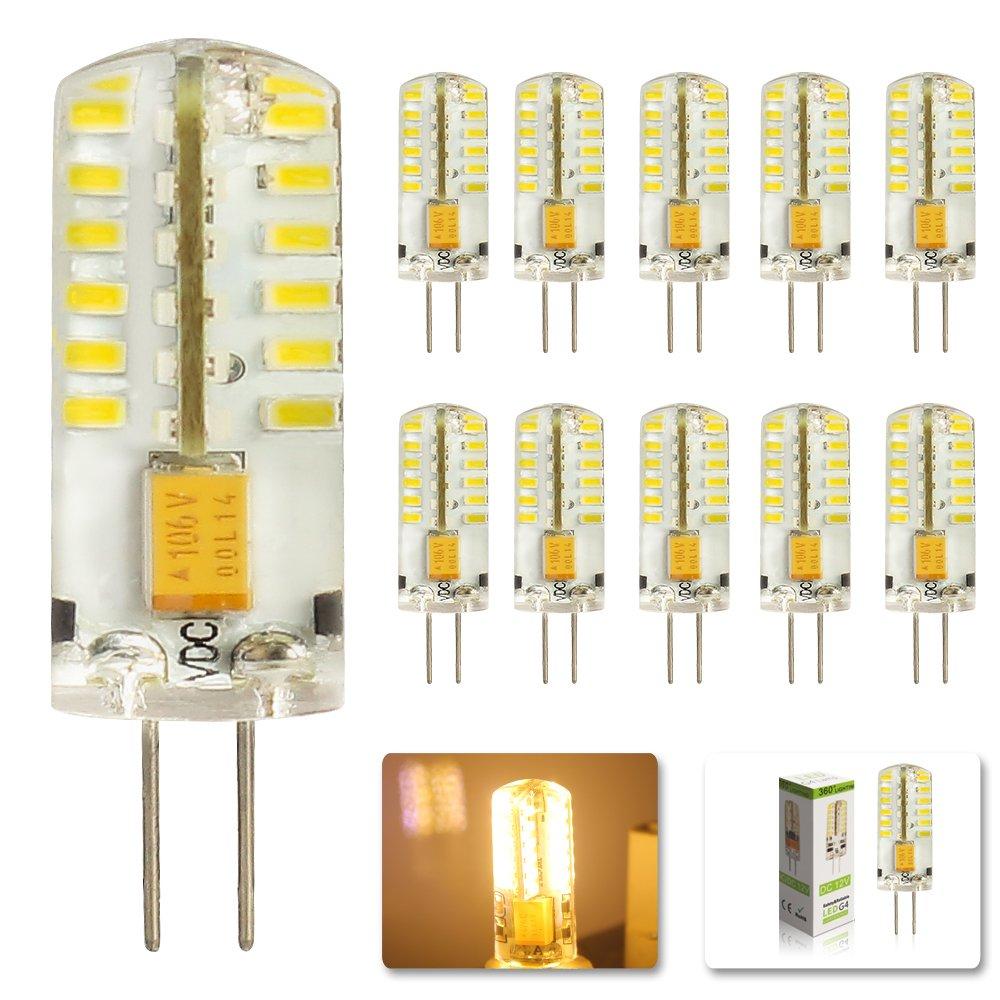 MUMENG 10 Stück G4 3W Led Leuchtmittel 12V LED Lampe 48*3014 SMD ...
