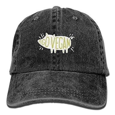 Go Vegan Pig Denim Hat Gorra de béisbol táctica Ajustable para ...
