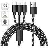 Multi USB Kabel, ADTRIP 3 in 1 USB Kabel Ladekabel für iPhone, Nexus, Samsung Galaxy, HTC, Xiaomi, Huawei und Android Smartphones
