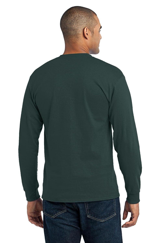 Maglietta a Maniche Lunghe da Uomo in Cotone//Poliestere 50//50 Port /& Company