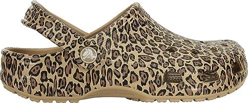 crocs leopard print clog