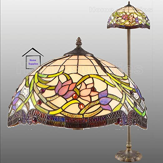 Wild vine tiffany style real stained glass floor lamp amazon wild vine tiffany style real stained glass floor lamp aloadofball Choice Image
