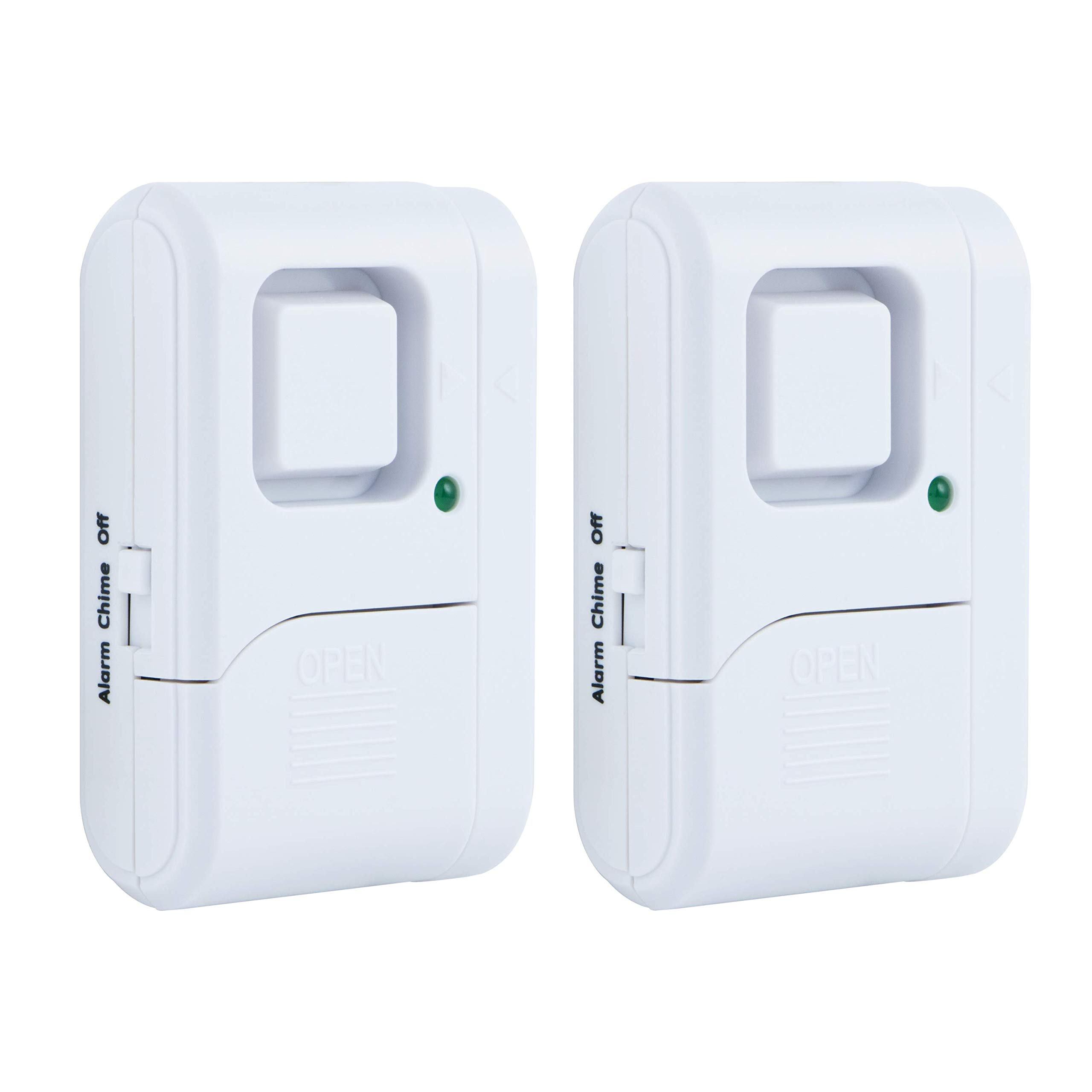 GE Personal Security Window/Door Alarm, 2-Pack, DIY Home Protection, Burglar Alert, Wireless Alarm, Off/Chime/Alarm, Easy Installation, Ideal for Home, Garage, Apartment, Dorm, RV and Office, 45115 by GE