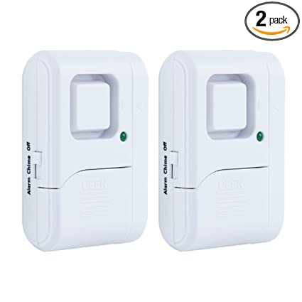 GE Personal Security Window/Door Alarm, 2-Pack, DIY Home Protection, Burglar Alert, Wireless Alarm, Off/Chime/Alarm, Easy Installation, Ideal for ...