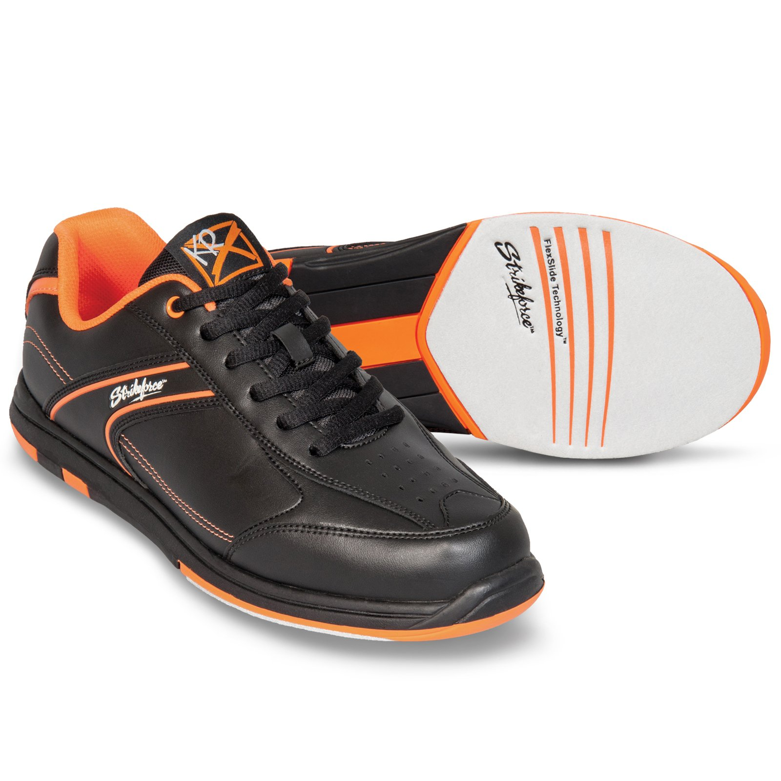 Strikeforce Flyer Black/Oragne Bowling Shoes Men's Size 10 by KR Strikeforce (Image #1)