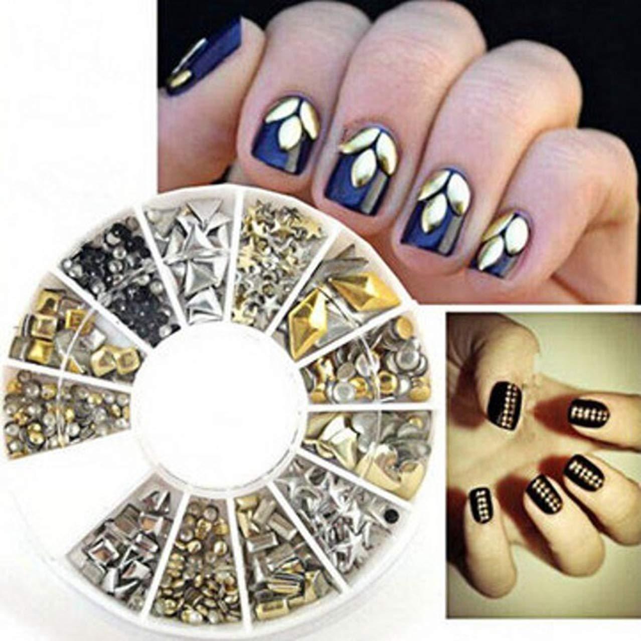 Amazon.com 1 Pcs 3D Studs Gems Metal Nails Art Rhinestones