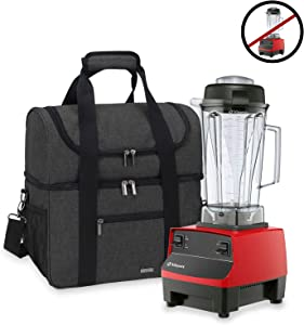 Luxja Carrying Case for 64 oz. Vitamix Blender, Travel Bag for Vitamix Blender and Accessories (Compatible with 64 oz. Vitamix Blender), Black