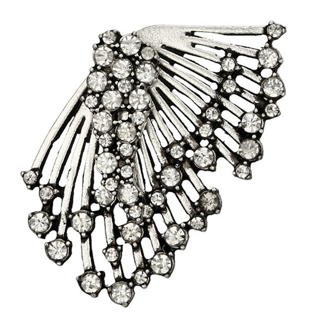 YouCY Ear Crawler Earrings Climbers Asymmetric Ear Studs Multilayer Single Rhinestone Earrings Fashion Women Girls Gifts