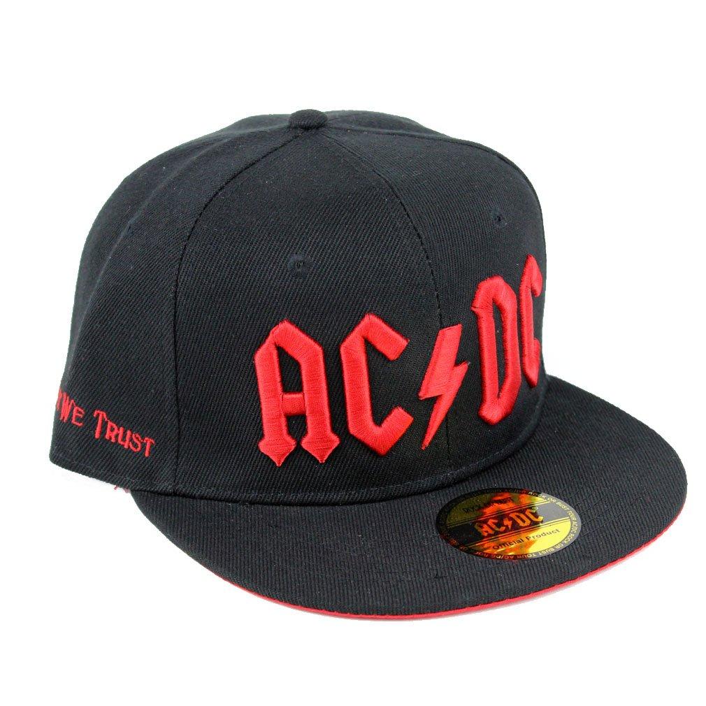 ae43f0596 AC/DC - Rock or Bust Baseball Cap Men's Snapback Cap Black/Red ...