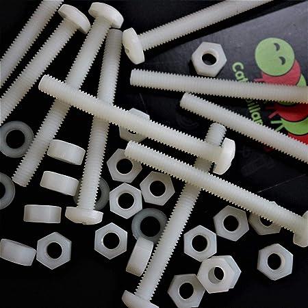 10 pack of M2 x 16mm Nylon Plastic Pan Screws Bolts
