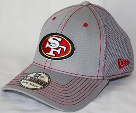 timeless design 5d3f6 6fa83 Image Unavailable. Image not available for. Color  San Francisco 49ers New  Era NFL 39THIRTY Gray Neo Flex Fit Hat