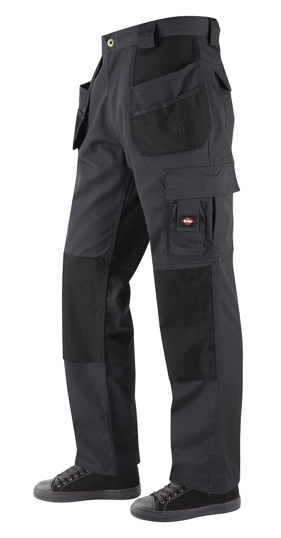Lee Cooper Workwear Men's Holster Pocket Regular Work Trouser - Grey/Black, 32W LCPNT216