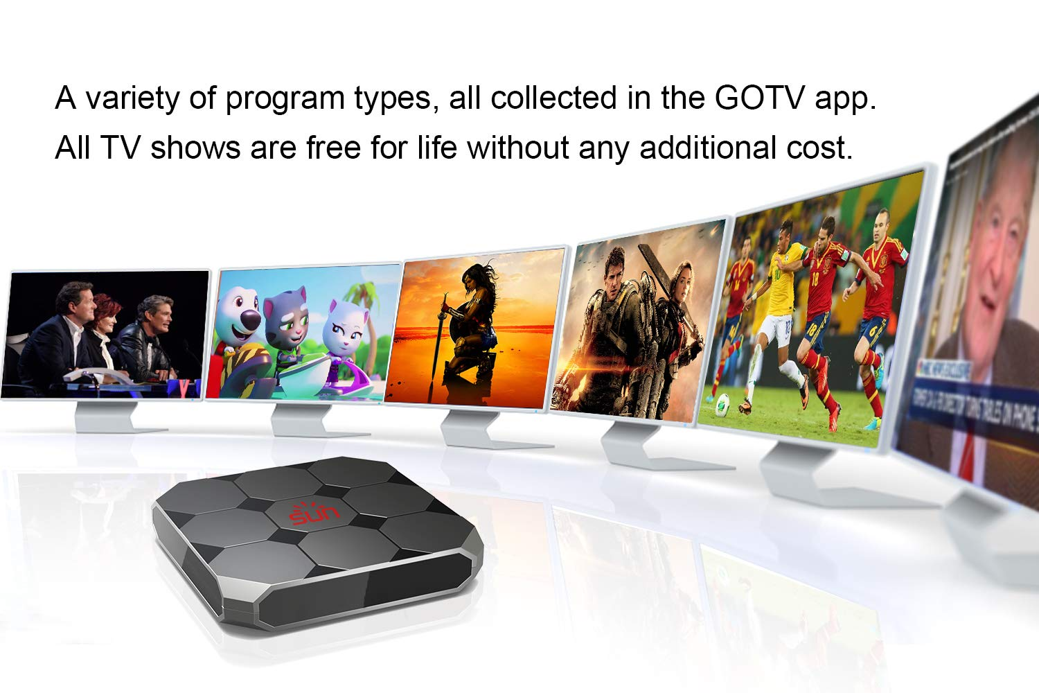 Goldenbox 2019 New International IPTV Box Receiver with Lifetime  Subscription for 1600+ Global Live Channels Including North American  European Asian