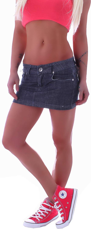 colore blu Minigonna in jeans da donna Style-Station