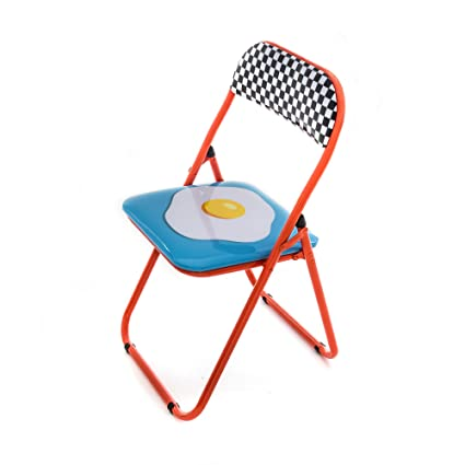 Astounding Amazon Com Seletti Blow Egg Folding Chair Multicolor Andrewgaddart Wooden Chair Designs For Living Room Andrewgaddartcom