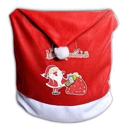 santa clause red hat chair back covers for christmas dinner decor judian santa claus brings gifts - Christmas Dinner Blessings