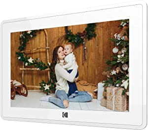 Kodak 10-Inch Touch Screen Digital Picture Frame, Wi-Fi Enabled with HD Photo Display and Music/Video Support Plus Clock, Calendar, Weather and Location Updates (RCF-106) - Matte White