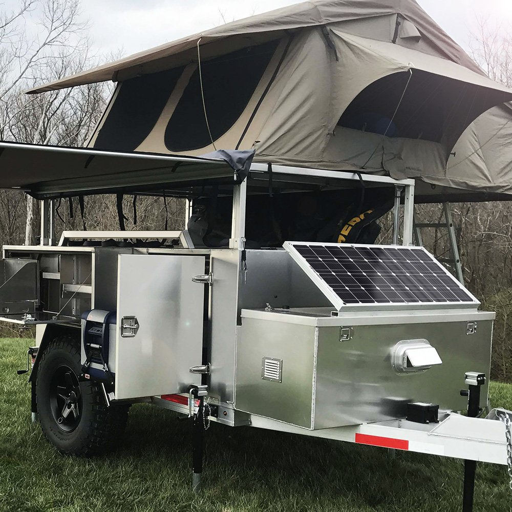 GIARIDE Solar Panel, 18V 12V 100W High-efficiency Monocrystalline Cell with MC4 Connectors Flexible Bendable Off-grid Solar Panel Charger for 12 Volt Battery, RV, Boat, Car, Motorhome, Camping by GIARIDE (Image #7)