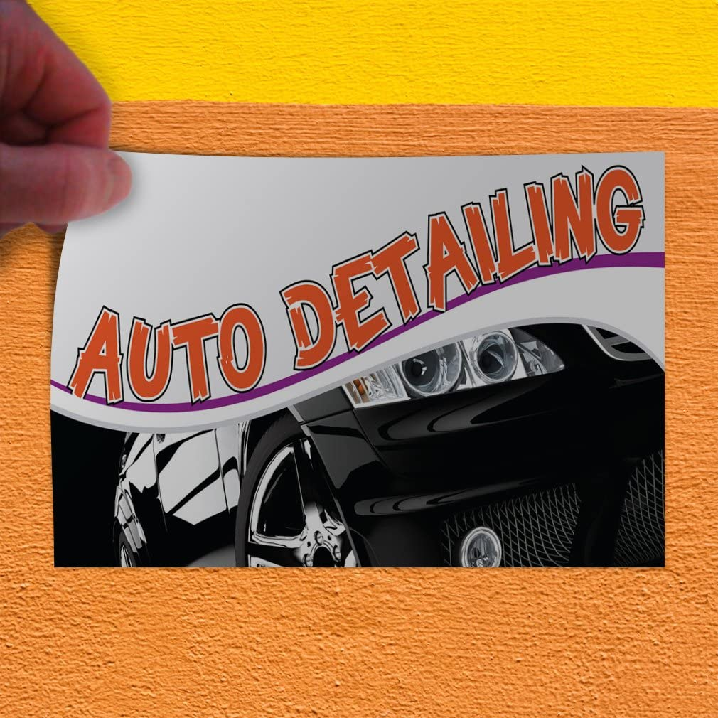 Multiple Sizes Available Decal Sticker Auto Detailing #1 Style K Automotive Auto Detailing Outdoor Store Sign Blue - 48inx32in Set of 5