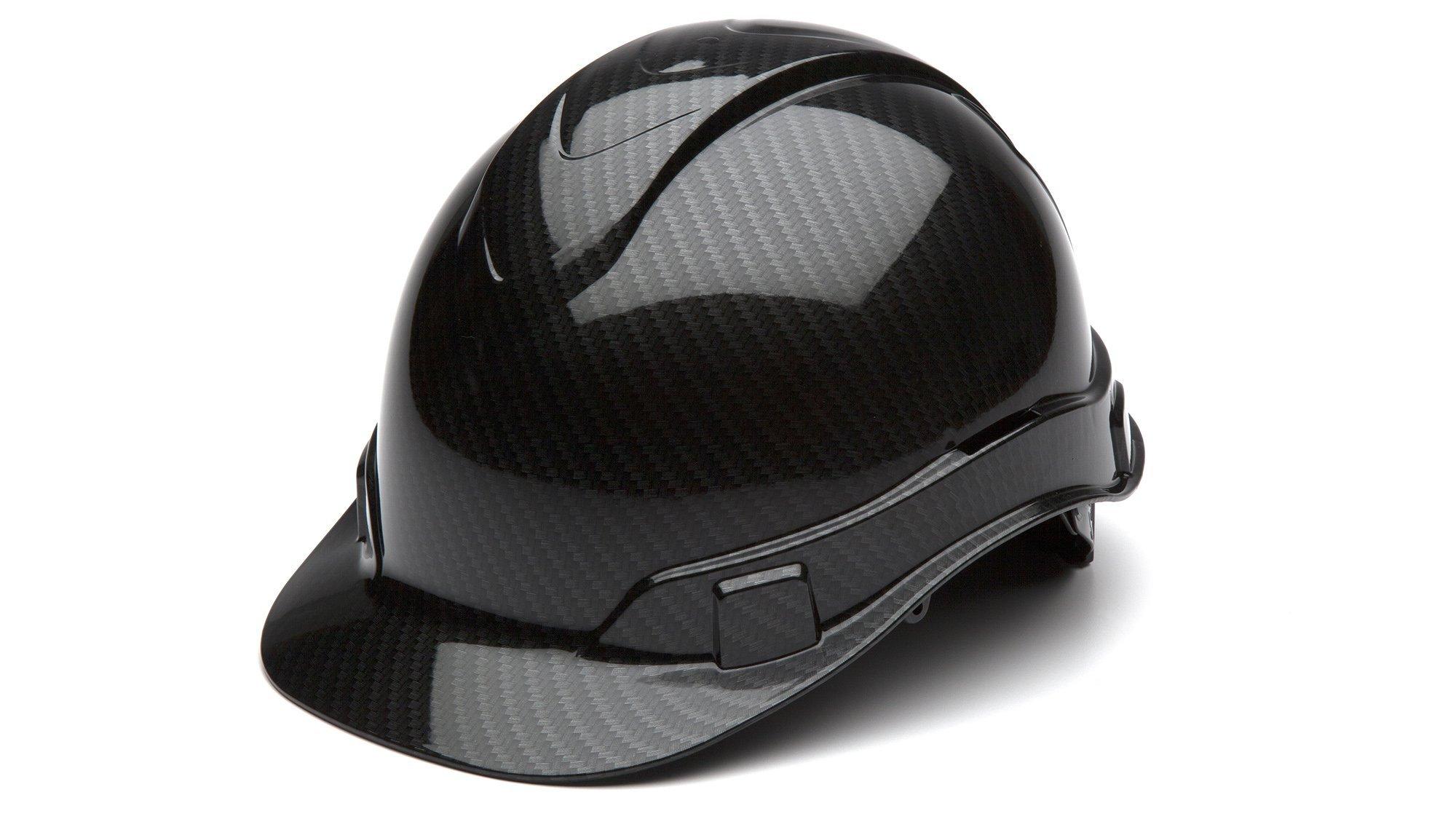 Pyramex Safety HP44117S Ridgeline Cap Style Hard Hat, One Size, Gray (Shiny Black Graphite Pattern)