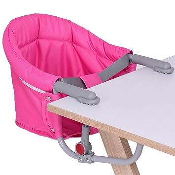 Amazon.com: Bebé Silla de mesa de gancho en silla portátil ...