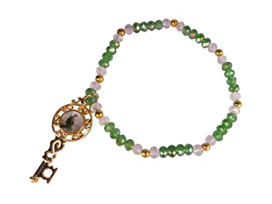 Angelitos de Mexico Cristal Bracelet with San Judas Tadeo Key Medal