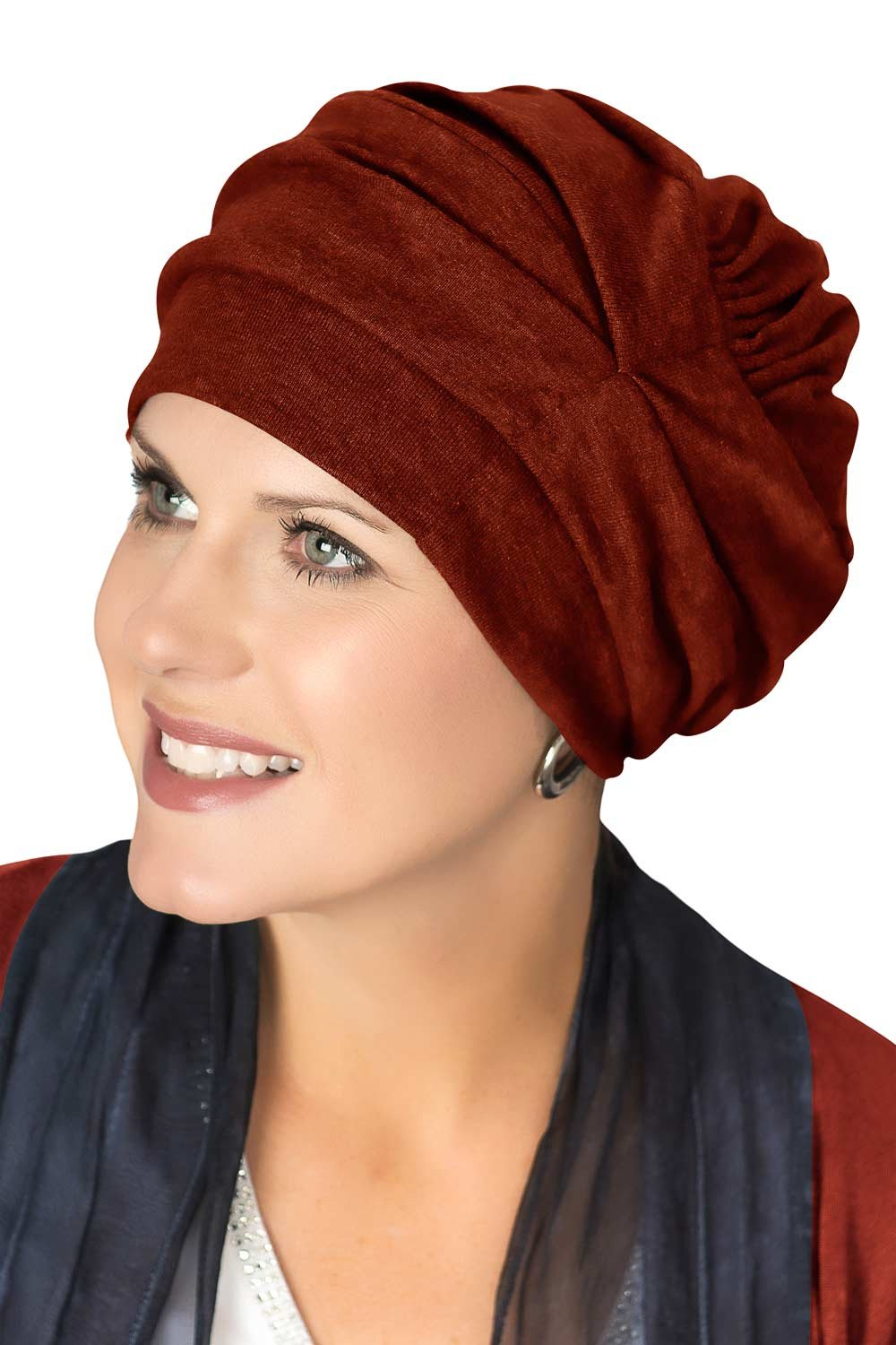 Headcovers Unlimited 100% Cotton Trinity Turban Caps Women Chemo Cancer Hair Loss Autumn