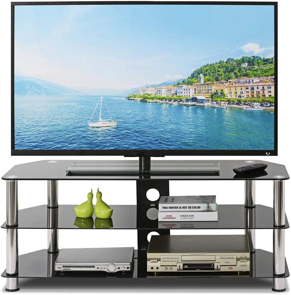 Mesa de Cristal Templado para TV de 32 a 60 Pulgadas, estantes de 3 Capas: Amazon.es: Electrónica