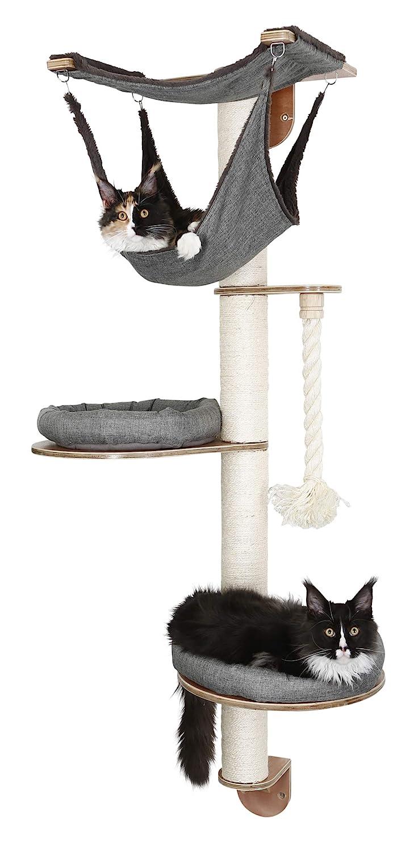 Amazon.com : Kerbl Wall-Mounted Cat Tree Dolomit 2.0 Tofana, Grey : Pet Supplies