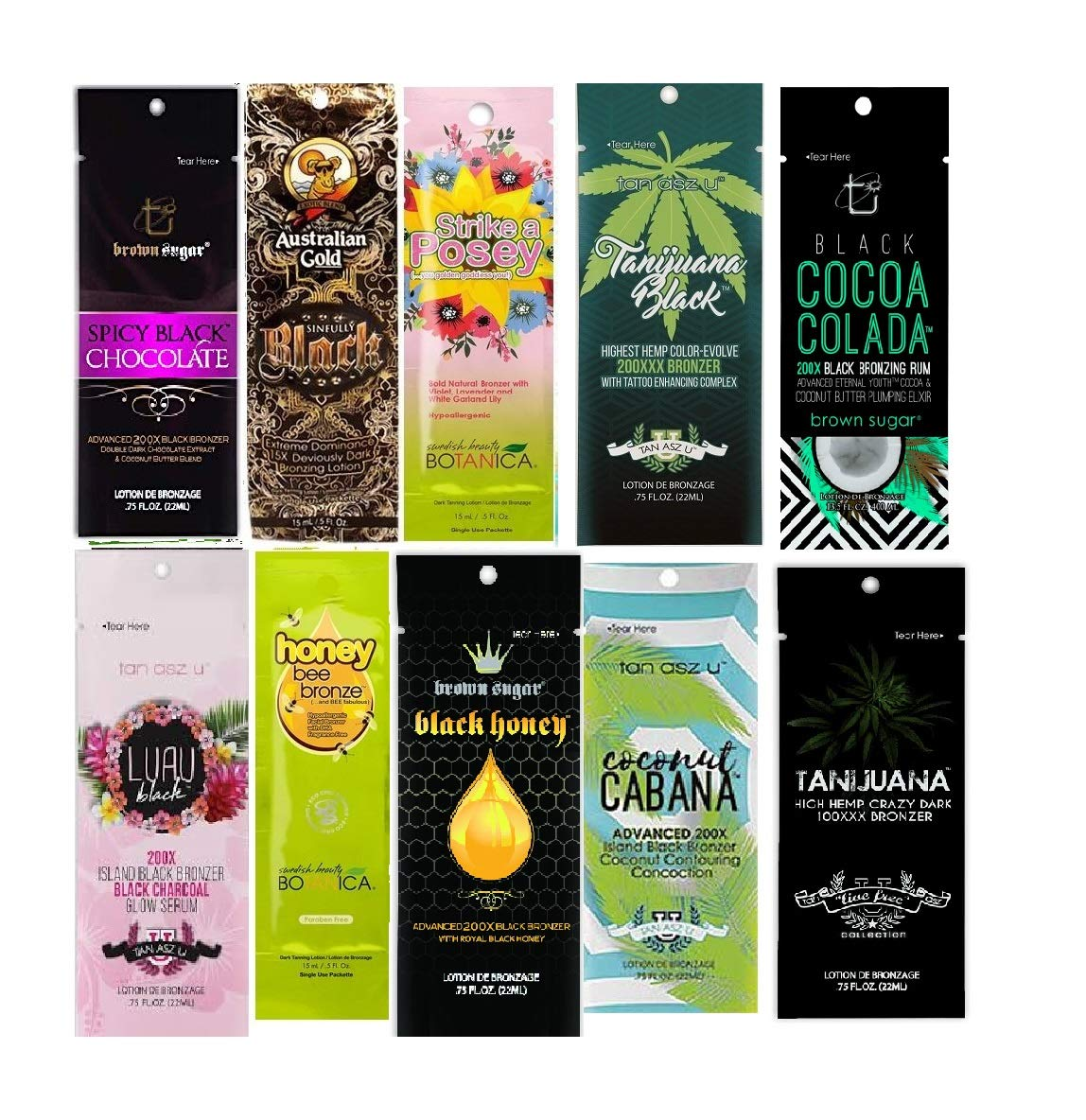California Tan Assorted Best Indoor Tanning Lotions Packets