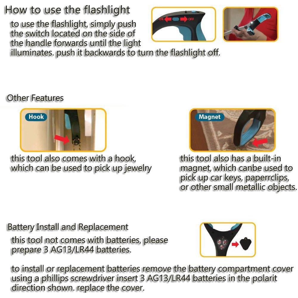 Reacher Grabber, Kemilove 82cm Heavy Duty Mobility Aid - Tool for Light Bulb Remover, iPad Pick Up, Litter Picker, Trash / Garbage, Garden Nabber, Long Extender