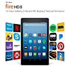 "Certified Refurbished Fire HD 8 Tablet with Alexa, 8"" HD Display, 32 GB, Black - with Special Offers (Previous Generation – 7th)"