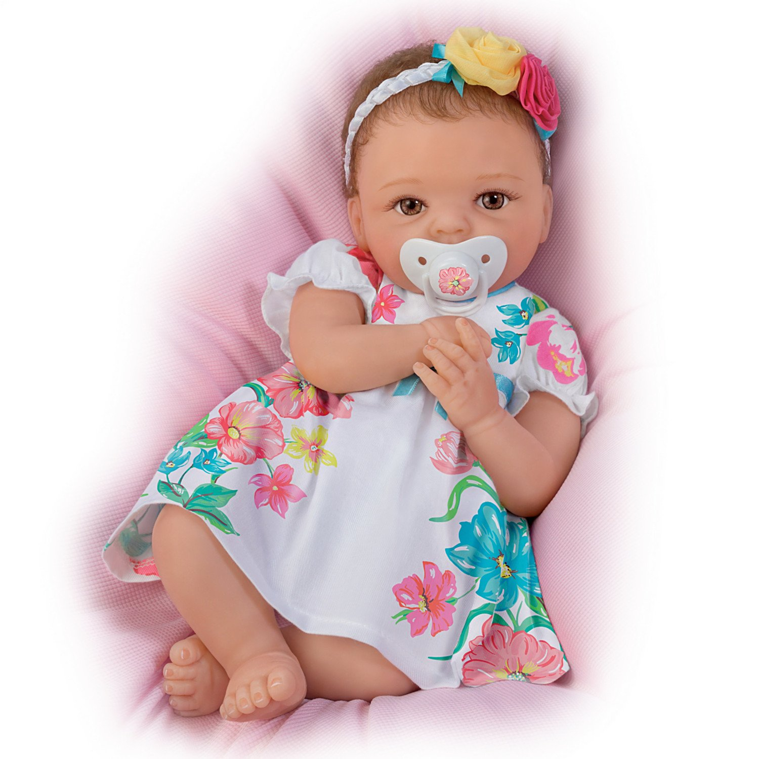 Cheryl Hill Pretty and Petite Presley TrueTouch Silicone Lifelike Baby Doll by The Ashton-Drake Galleries