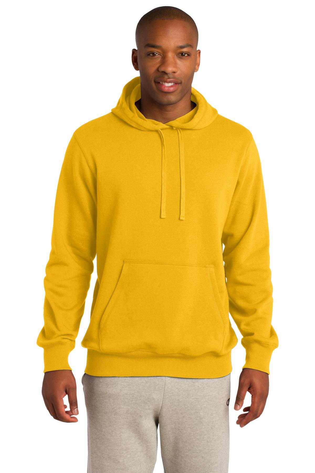 Sport-Tek Men's Pullover Hooded Sweatshirt XS Gold by Sport-Tek
