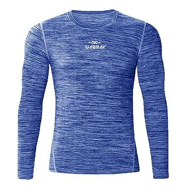 b1dde1353129 T-Shirt Homme Sport Manches Longue Col Rond Course à Pied Slim Compression Moulant  T-Shirt Homme Sport Manches Longue Col Rond Course à Pied Slim ...