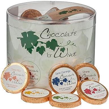 DreiMeister Chocolate para vino Caja transparente 60 Thalers 480 g
